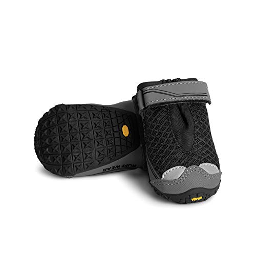 RUFFWEAR – Grip Trex Outdoor Dog Boots with Rubber Soles for Hiking and Running, Obsidian Black, 2.25 in (2 Boots)