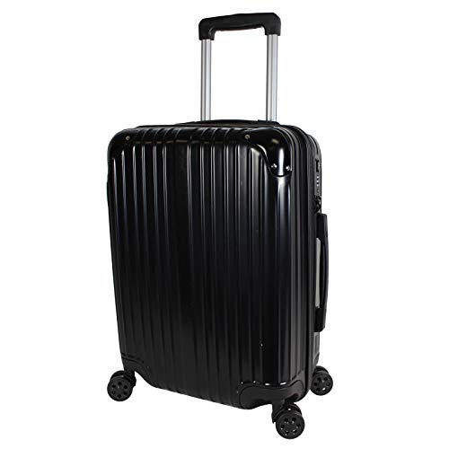 World Traveler Cruise Hardside 20-inch Spinner Carry-On Upright Luggage, Black, One_Size