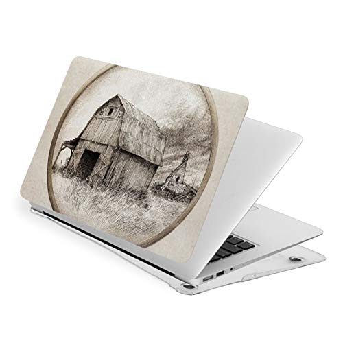 Air 13 inch Case,Old Barn Eric Fan Ultra Slim Hard Shell Protective Case,Laptop Hard Shell Cover Protective (Model A1466 A1369, Size 32.9 x 23.1cm)