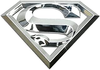 3D Superman Chrome ABS Plastic Car Emblem, DC Official Licensed