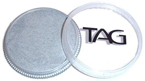 TAG Face Paints - Pearl Silver (32 gm) by TAG Body Art