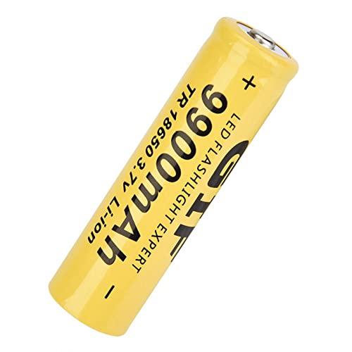 Taschenlampenbatterie,4PCS Taschenlampenbatterie GIF 9900mAh 18650 Akku-Blitzlicht für Camping, Jagd, Wandern, Spaziergänge mit Hunden Gelb
