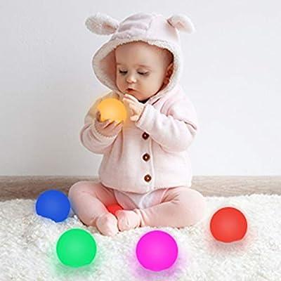 LOFTEK Bath Toys 10 Packs, 3-inch 7 RGB Colors ...