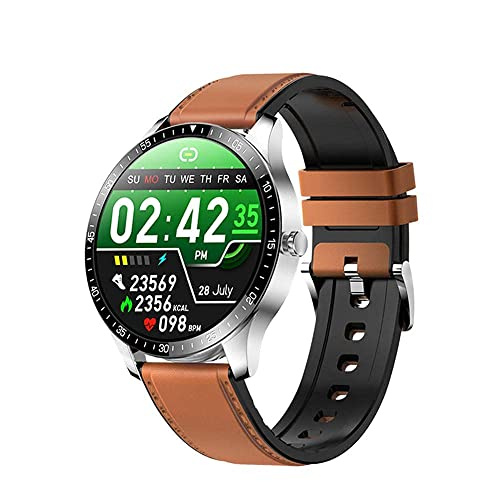 XYG Reloj inteligente y monitoreo del sueño 1 28 pulgadas TFT Pantalla táctil completa Pulsera Larga Duración de la batería IP68 Impermeable Multi Sport Modo Función especial Azul (Color: F) (F)