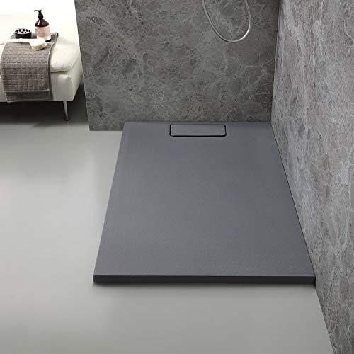 Plato de ducha 70 x 90 resina gris pizarra