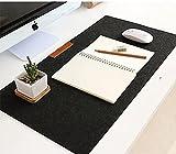 Alfombrilla de ratón XL de fieltro negro – gris clase, sobria, moderna, diseño de ordenador de sobremesa o PC / Mac portátil (Macbook - iMac)