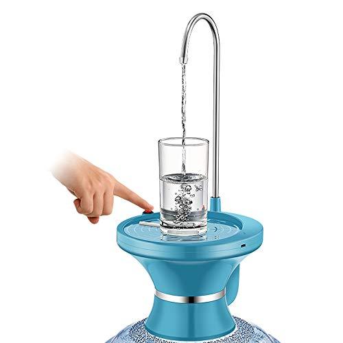 CLL WASSERPUMPE FÜR 5 GALLONEN Flasche USB Wiederaufladbarer Li-Ion Hygienischer BPA-freier Wasserkocher Spender Tragbar für Haushalt, Küche, Outdoor Camping Wasserflaschen Pumpspender, blau