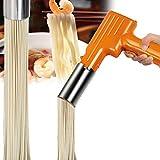 APOE Macchina per la Pasta Fresca Elettrica, Portatile Sfogliatrice Macchina Pasta Elettrica in Acciaio Inossidabile, Torchio per Pasta per 2.5mm Pasta e Spaghetti
