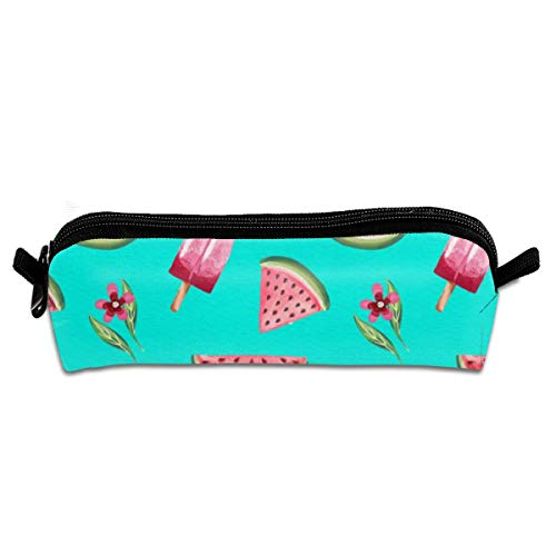 Pencil Case Pen Zipper Bag Pouch Holder Makeup Brush Bag Watercolor Summer Pattern