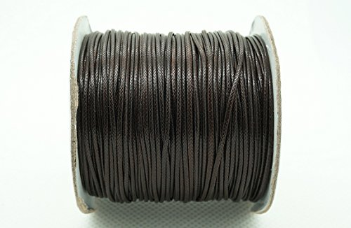 DARK BROWN 1mm Faux Imitation Leather Polyester Braided Cord Macrame Bracelet Thread Artisan String (100yards Spool)