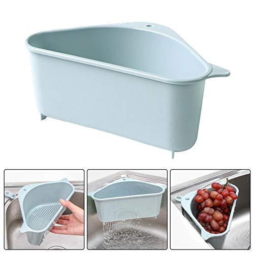 Dreieckiger Aufbewahrungshalter Multifunktionale Abflussregal, Saugnapf, Abtropfgestell für Küche Bad, dreieckig, multifunktionales Abflussregal
