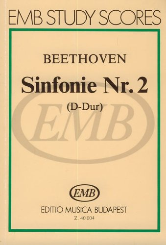 EMB (Editio Musica Budapest) BEETHOVEN L. - SINFONIA N. 2 IN RE MAGGIORE OP.36 - CONDUCTEUR POCHE Klassische Noten Taschenpartitur