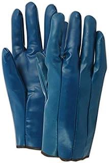 Magid Glove & Safety 3822M Magid Blue Magic 3822 Blue Nitrile-Coated Glove, Men`s Sizes, Blue, Medium (Pack of 12)