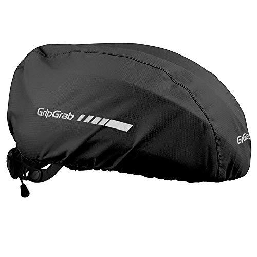 GripGrab Wasserdichter Fahrrad Regenschutz Helmüberzug Winddichte Reflektierende Haube für Fahrradhelme Schwarz