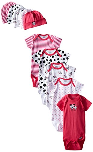 Gerber Baby-Girls Newborn Dalmatian Onesies and Cap Bundle, Dalmatian, 3-6 Months (Pack of 5)