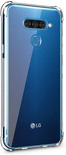 Helix Liquid Crystal Anti Smudge Bumper Transparent Back Cover Case for LG Q60 / LG K50 2019,LG Q 60 - Transparent