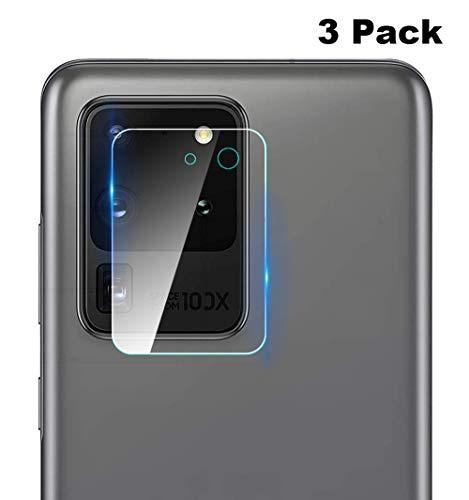 NOKOER Kamera Panzerglas Kompatibel für Samsung Galaxy S20 Ultra, [3 Stück] Ultradünnes Gehärtetes 2.5D Kamera Schutzglas, 360 Grad Schutzkamera- Transparent