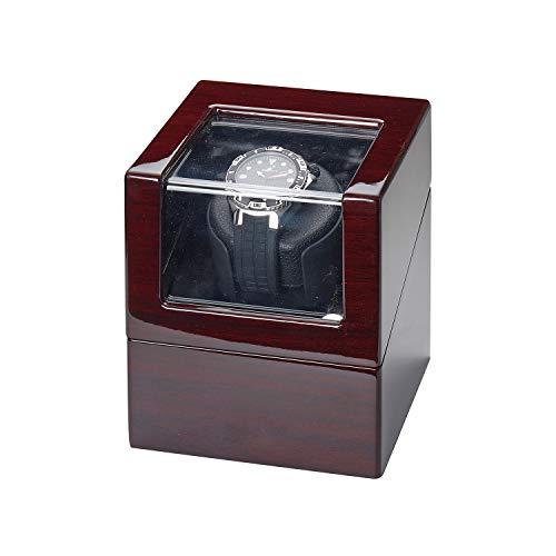 Advance - Expositor giratorio para reloj (1 reloj, caoba, con fuente de alimentación)