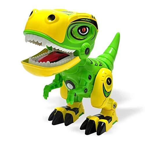 Juguete de dinosaurio electrónico para niños, juguetes educativos interactivos con animales, caminar, bailar, cantar, mascota electrónica de aleación con luz y sonido para niños, niñas y niños
