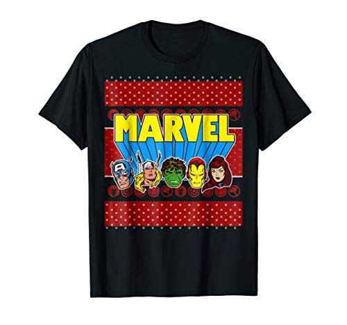 Marvel Avengers Classic Ugly Christmas Sweater T-Shirt