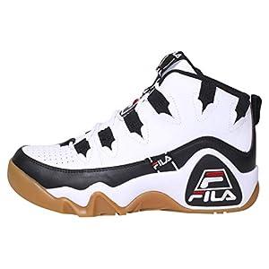 Fila Men's Grant Hill 1 Tarvos Basketball Sneakers White/Black/Red 12