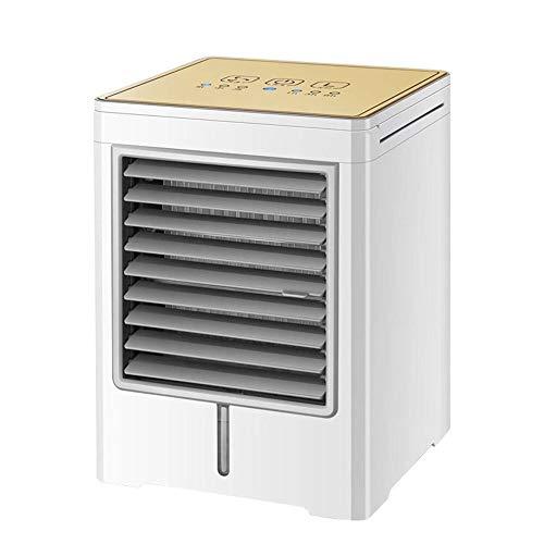 Raffreddatore d'Aria Condizionatore d'Aria raffreddato ad Acqua per Uso Domestico con Ventilatore Freddo da Tavolo Portatile (Oro)