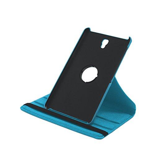 Drehbare Hülle mit Standfunktion für Samsung Galaxy Tab S 8.4 in TÜRKIS mit automatischer Sleep- & Wake-Up-Funktion [passend für Modell SM-T700, SM-T705]
