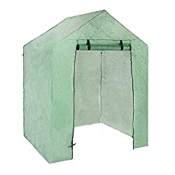 Material: high-quality PVC, corrosion-resistant, and durable. Greenhouse cover size: about 143*73*195 cm/ 56.30*28.74*76.77 in The walk-in greenhouse can keep the heat and prevent the cold so as to protect your plants from cold wind, cold wave and sn...