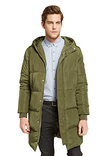 Orolay Men's Thickened Down Jacket Winter Warm Down Coat ArmyGreen