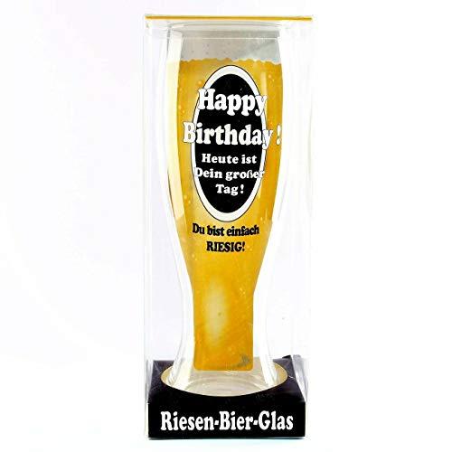 Vaso de cerveza gigante para cumpleaños, 1400 ml