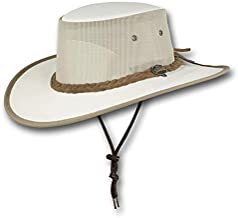 Barmah Hats Canvas Drover Hat - Item 1057 (Large, Cream)