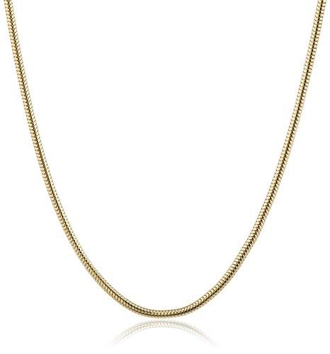 InCollections Damen-Halskette 925/000 Sterlingsilber vergoldet Schlangenkette 1,2/45 cm 154029ES12200