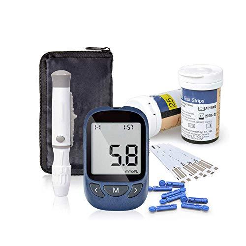 Glucosa en sangre kit de Exactive Vital control de la diabetes kit codefree tiras de prueba de glucosa en sangre x 50 y dispositivo de punción para diabéticos en mg/dL
