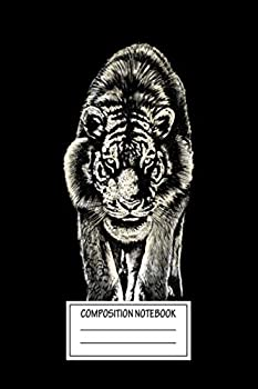 Composition Notebook  Animals Stare Lion And Tiger Wide Ruled Note Book Diary Planner Journal for Writing
