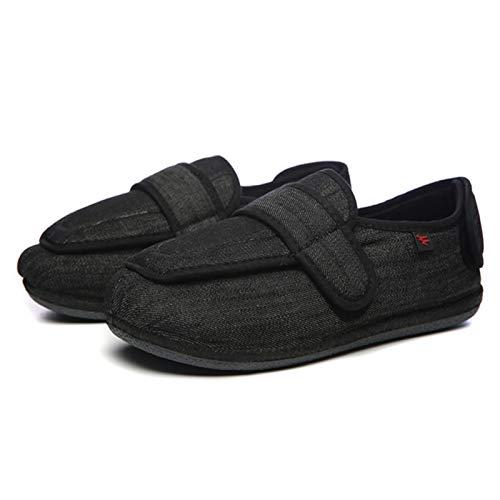 Los zapatos ortopédicos for los hombres ajustables zapatillas de enfermería rehabilitación postoperatoria diabetes hallux valgus edema pies ancho grasa heridos gasa puede artritis casa hinchazón