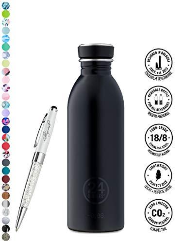 24 Bottles Bottiglia di acqua Urban 250 ml | 500 ml | 1000 ml colori diversi 24bottles, Contenuto:500 ml, Colore:tuxedo black