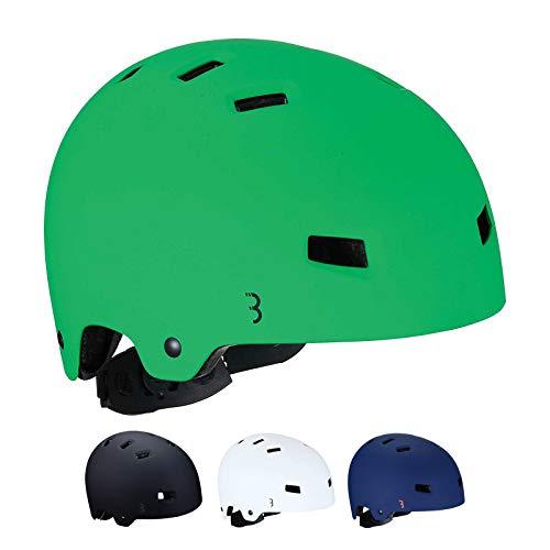 BBB Cycling Unisex-Youth Kids fietshelm Billy | ABS shell | Fietsen Skateboard Scooter | BHE-50 groen M (55-58 cm), mat groen