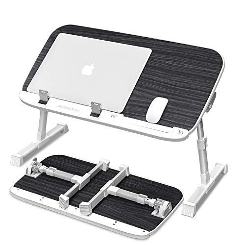 AboveTEK Laptoptisch Klappbar fur Bett Hohenverstellbar Laptopstander Fruhstuckstisch Notebooktisch mit 60 x 33 x 24 33 cm Tragbarer Lap Desk fur Sofa Couch Buro Picknick