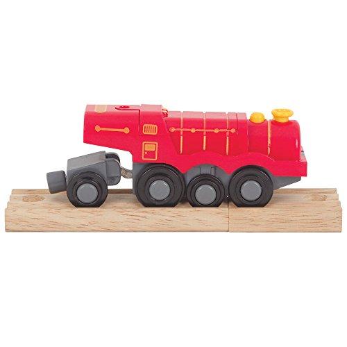Bigjigs Rail Grosse Locomotive Rouge alimentée par Pile