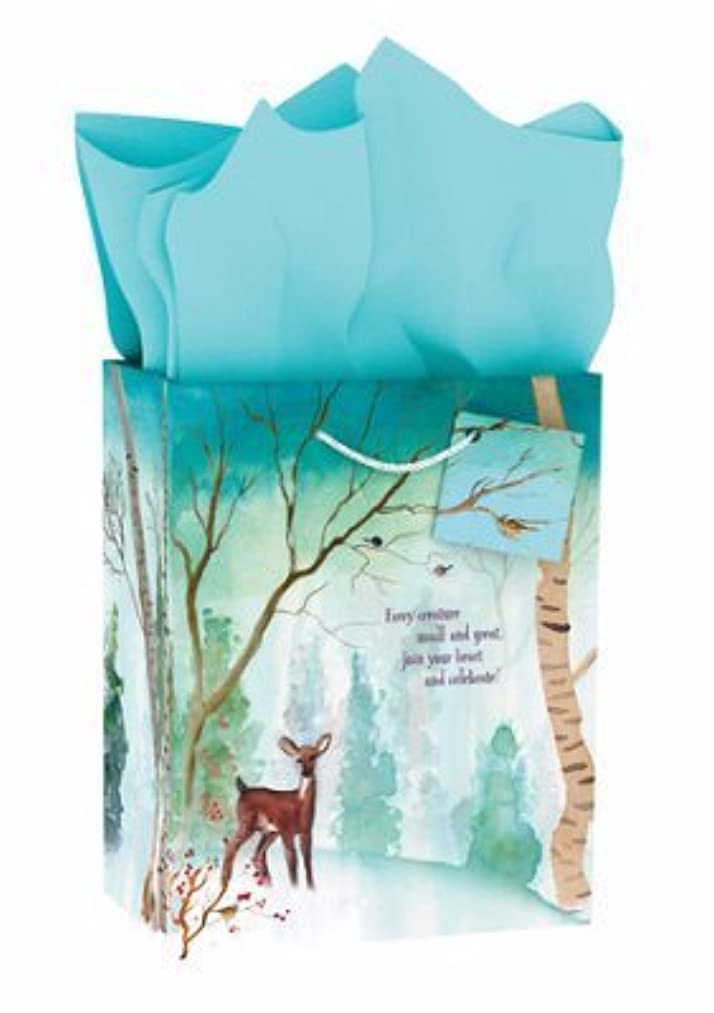 Medium Specialty Gift Bag - Christmas - Happy Woodland