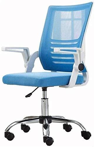Silla de Oficina Silla de Oficina SHIVEL ROBREST Mesh Home con Y Removable Sillón (Color : Blue)