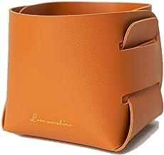 gShopVV Fashion PU Leather Small Storage Basket Foldable Storage Basket for Pen Key Cosmetics Remote Control
