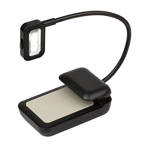 ShenYo CIip-on Kindle Leselicht, flexibler Hals, ultra helles Licht für Amazon...