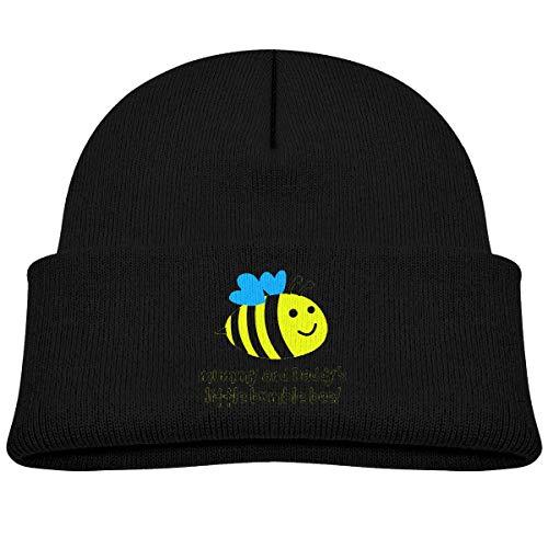 Quintion Robeson Enfant en Bas âge Bonnet Little Bumble Bee Bébé Garçon Fille Casquette Slouchy Coton Enfant Chaud Crâne Chapeau en Tricot Noir