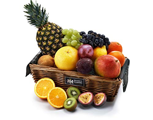 Regency Fresh Fruit Hamper - Large - Hand Wrapped Gourmet Food Basket, in Gift Hamper Box