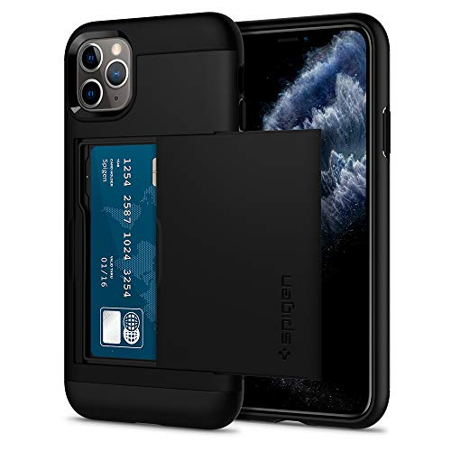 Spigen Funda Slim Armor CS Compatible con iPhone 11 Pro - Negro