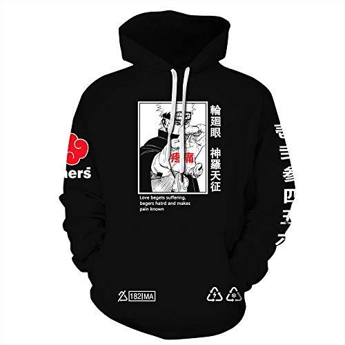 3D Naruto Hoodie Cool Anime Print Pullover Hooded Sweatshirt for Men-b_L