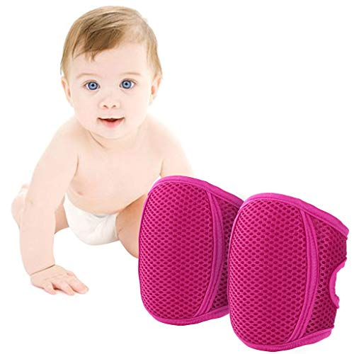 Huizhou Weiyitian Trading CO.Ltd Knieschoner Baby Krabbeln, Kleinkind Knie Kriechende Schutz Anti-Rutsch Gummipunkte Verstellbarer Protektoren,Rot