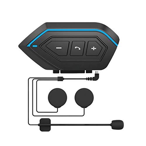 Auriculares Bluetooth Para Motocicleta, Walkie-talkie Para Casco De Motocicleta, Sistema De Comunicación Bluetooth, Chip Bluetooth 5.0, Reducción De Ruido Inteligente, 80 Horas De Reproducción (negr