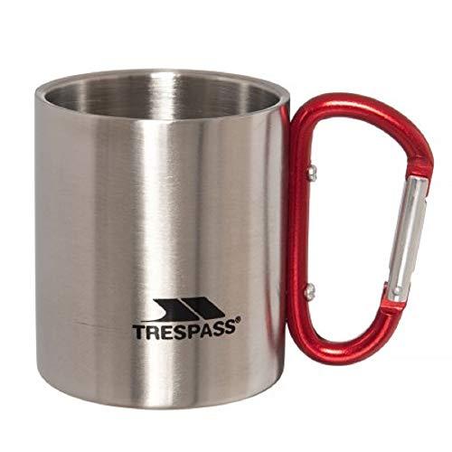 Trespass Bruski - Moschettone a doppia parete, 230 ml, colore: Grigio